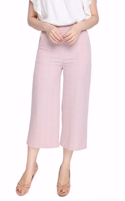 Checkered Culottes - Pink