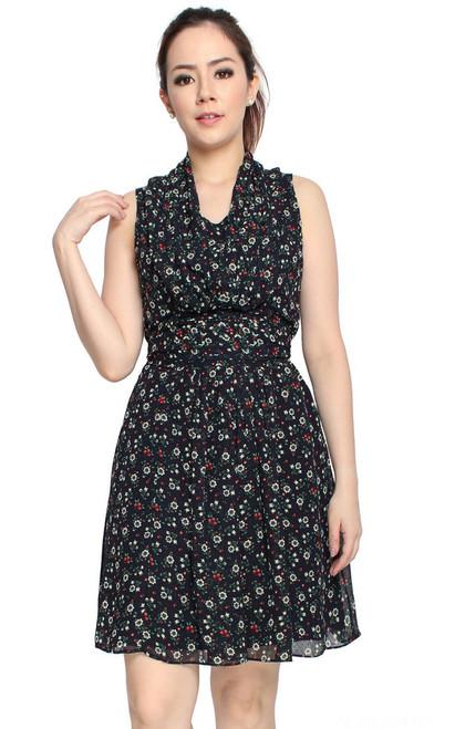 Monroe Chiffon Dress - Petite Fleur