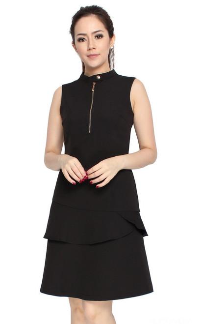 Tiered Mermaid Dress - Black