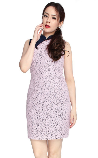 Pressed Lace Cheongsam