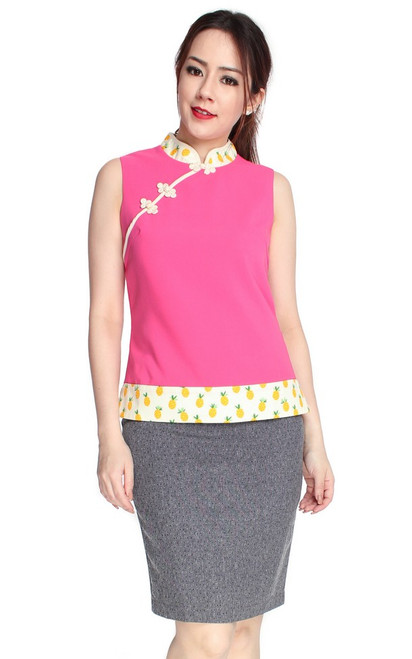 Pineapple Cheongsam Top
