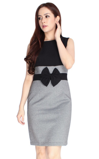 Bow Waist Pencil Dress