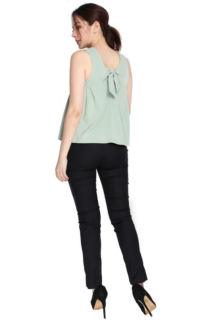 Tie Back Top - Jade
