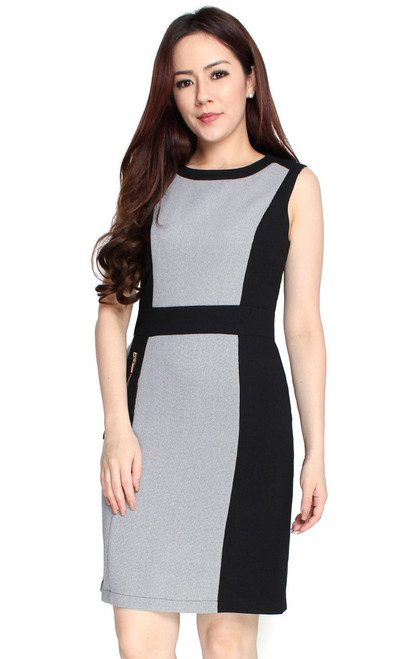 Contrast Panels Dress