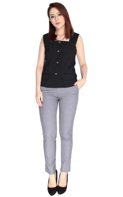 Buttons Top - Black