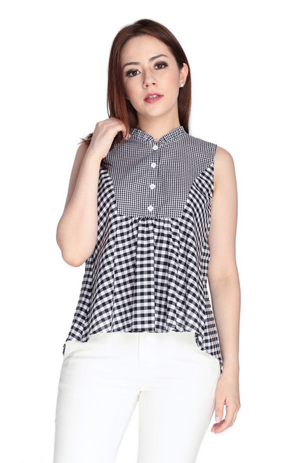 Gingham Trapeze Top