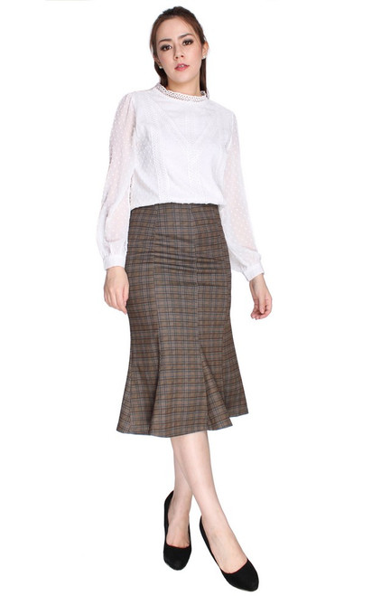 Crochet Lace Chiffon Top - White
