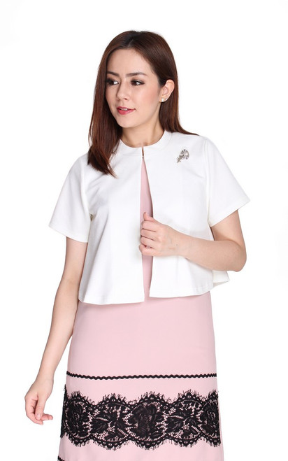 Cape Bolero Jacket II - White