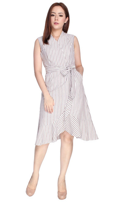 Asymmetrical Overlap Hem Dress