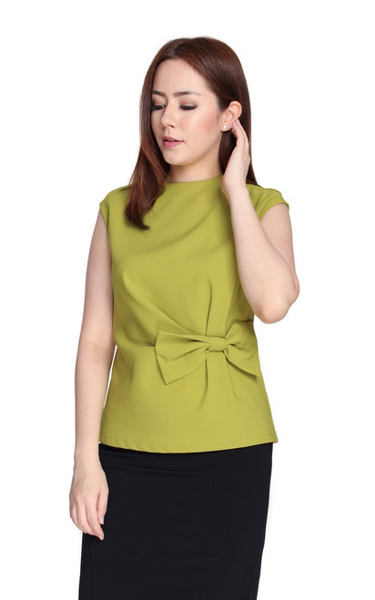 Side Bow Top - Chartreuse