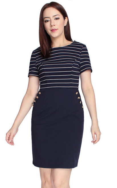 Nautical Buttons Dress