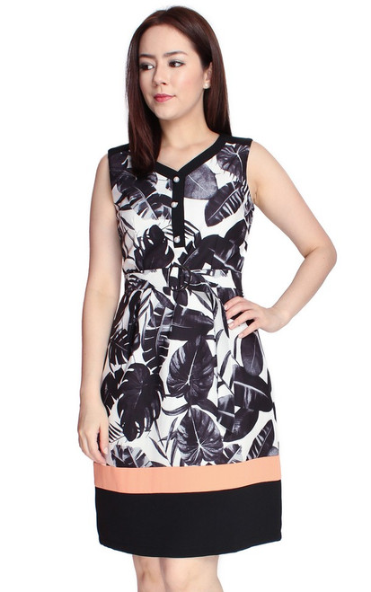Botanical Dress - Black