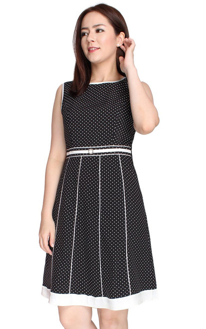 Polka Dot Dress - Black