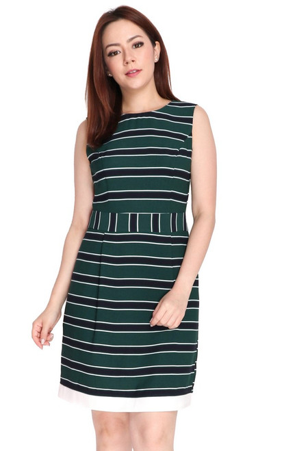 Tricolour Striped Dress