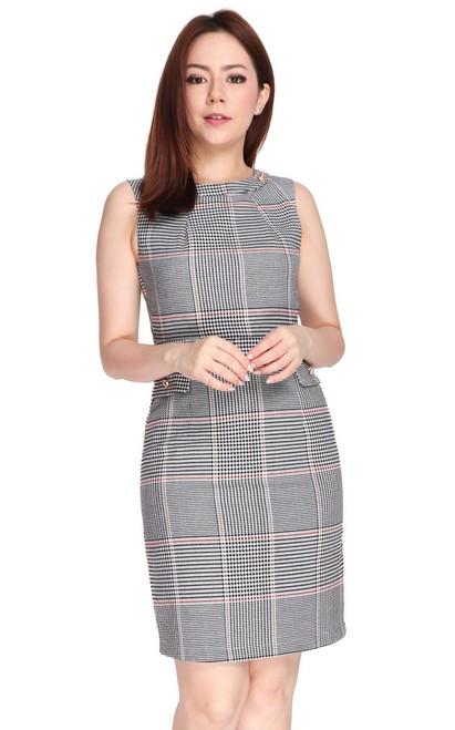 Checkered Pencil Dress