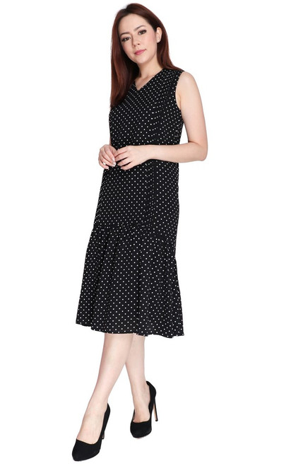 Polka Dot Drop Hem Dress