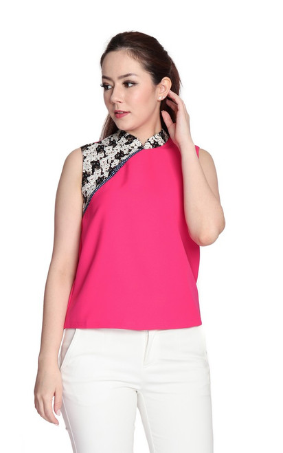 Fortune Cat Cheongsam Top