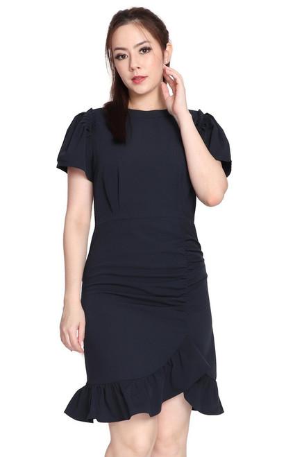 Ruffle Ruched Dress