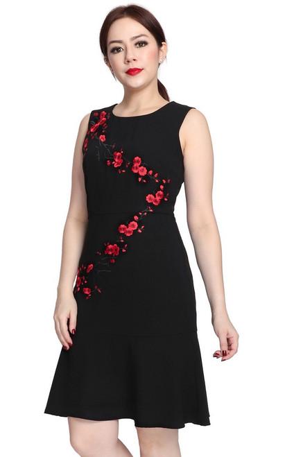 Embroidered Sakura Dress