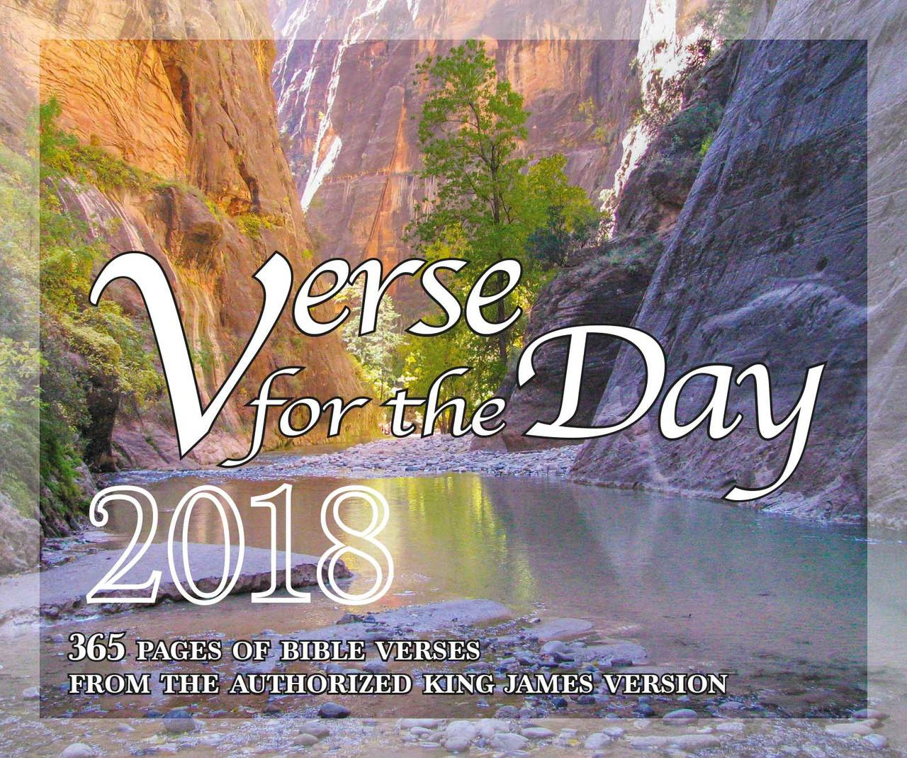 Bible Verse For The Day 365 Pages Daily Desk Calendar 2018 Kjv