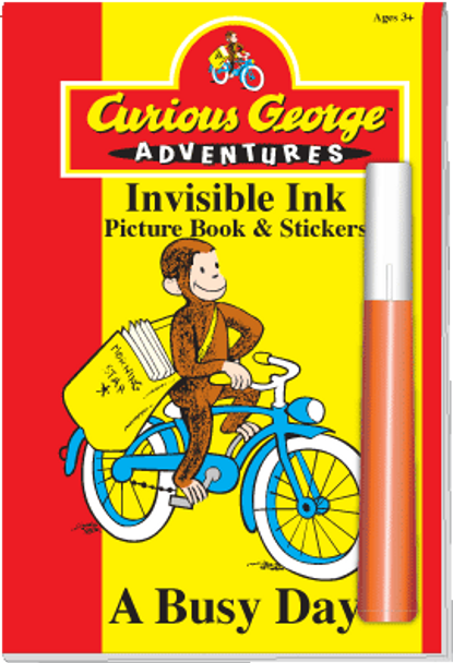 """Invisible Ink with Stickers: Curious George™ """"A Busy Day"""""""