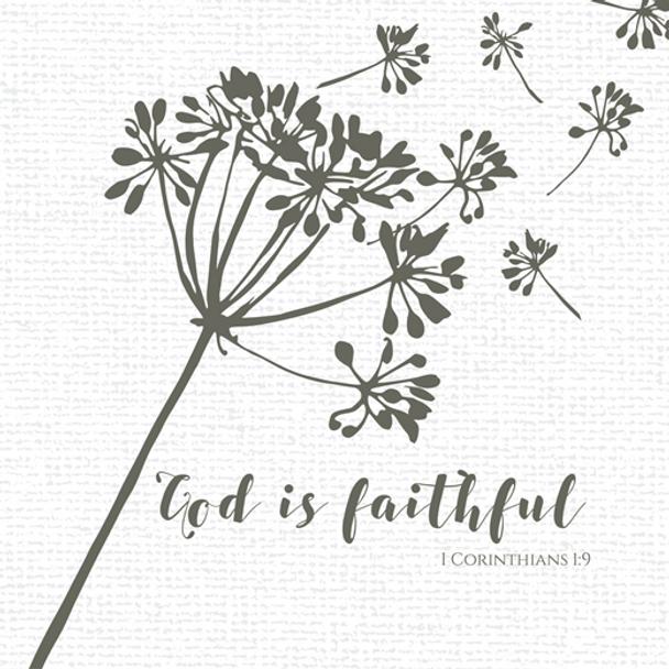 "God Is Faithful - Luncheon Napkins with KJV Bible Verse - 6.5"" x 6.5"" (20/pkg)"