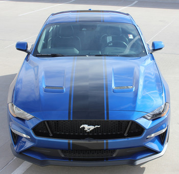 HYPER RALLY | 2018 Ford Mustang Center Matte Black Stripes 3M FCD Call 812-725-1410