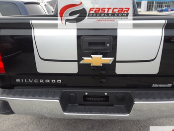 Chevy Silverado Silver Racing Stripes CHASE RALLY decal 3M 2016-2018 FCD Call Us 812-725-1410