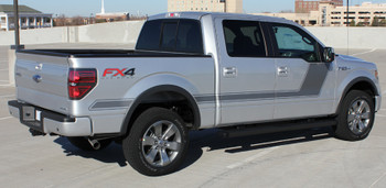 profile of Ford F150 with Stripes side graphics 2009-2018 15 FORCE 2 | FCD Call Us 812-725-1410