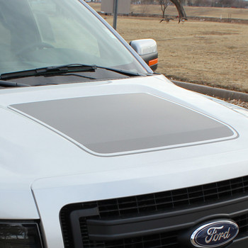 front angle Hood Stripe for Ford F150 15 FORCE HOOD graphics 2009-2018 | FCD Call Us 812-725-1410