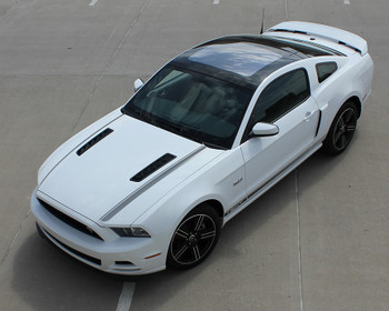 top front angle California Mustang GT stripe graphics 2013-2014 CALI EDITION Call Us 812-725-1410