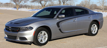 driver side of 2016 Dodge Charger Body Graphics C STRIPE side stripes 2015-2018 Call Us 812-725-1410