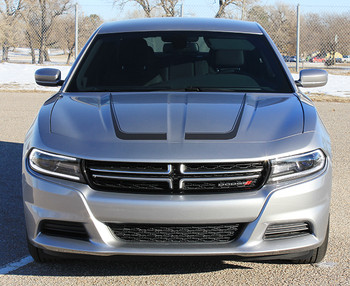 front view of 2016 Dodge Charger Body Graphics C STRIPE side stripes 2015-2018 Call Us 812-725-1410