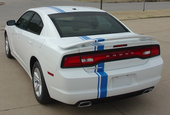 rear view E RALLY | Dodge Charger Racing Stripes Graphics 2011-2014 | FCD Call 812-725-1410