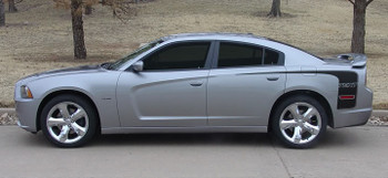 side view Dodge Charger HOCKEY Stripes Decals 2011-2012-2013-2014 | FCD Call 812-725-1410