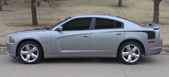 profile view Dodge Charger HOCKEY Stripes Decals 2011-2012-2013-2014 | FCD Call 812-725-1410