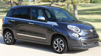 front angle SIDEKICK | Fiat 500L Striping kit vinyl graphics 2014-2018 | FCD Call 812-725-1410