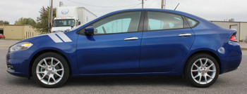 profile of Dodge Dart Lip kit Dart DOUBLE BAR fender Stripe 3M 2013-2016 FCD Call Us 812-725-1410