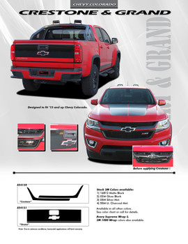 flyer for 2018 Chevy Colorado Graphics RATON 2015 2016 2017 2018 3M WET INSTALL Call Us 812-725-1410