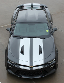 high front view of Racing Stripes Camaro CAM SPORT PIN rally decals 2016-2018 FCD Call Us 812-725-1410