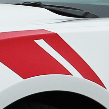 close up of stripe Chevy Camaro Fender HASH MARKS stripe 2018-2016 | FastCarDecals