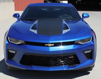 front view of HERITAGE Vinyl Decals 2018-2016 Camaro Stripe kits Racing Graphics 3M