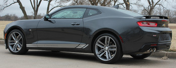 driver side view 2017 Camaro Decals TREAD ROCKER panel stripes 3M | FastCarDecals Call Us 812-725-1410