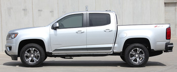 profile for 2015 Chevy Colorado Stripes RAMPART side decals 3M 2016-2017 FCD Call Us 812-725-1410