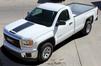 front angle of GMC Sierra Truck Graphics Decals & Accents MIDWAY 2014-2018 3M Call Us 812-725-1410