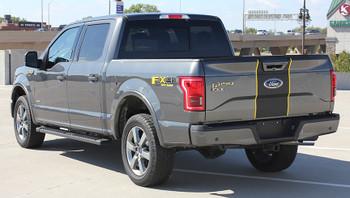 rear left Ford Pickup Truck Decals BORDERLINE stripe kit 3M 2015-2018 | FCD Call Us 812-725-1410