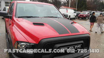 Dodge Ram Hood Graphics HEMI HOOD stripes 3M 2009-2018 | FCD Call Us 812-725-1410