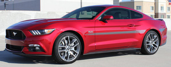 side angle of 2015 Mustang Side Stripes 3M LANCE side decals | FastCarDecals Call Us 812-725-1410