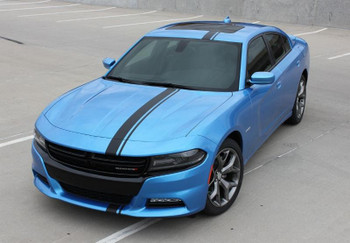 front angle Dodge Charger Mopar Stripe E RALLY RT racing stripe 3M 2015-2018 Call Us 812-725-1410