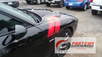 Dodge Challenger hood decals DOUBLE BAR stripe 3M 2008-2018 FCD Call Us 812-725-1410